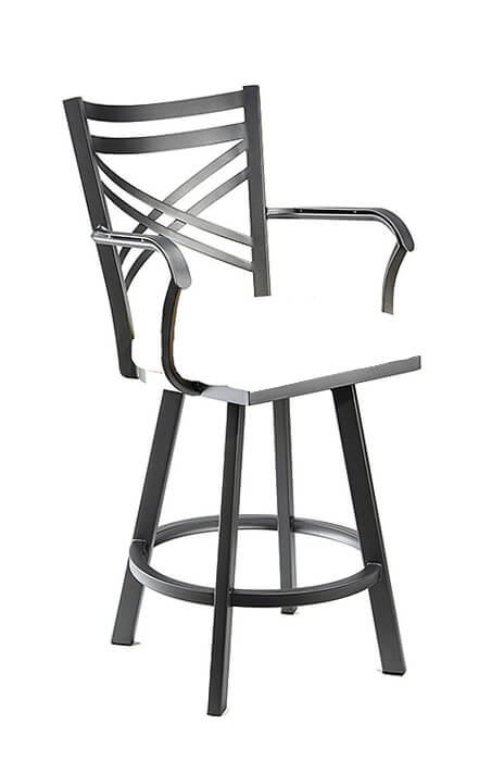 Raleigh Swivel Stool with Back