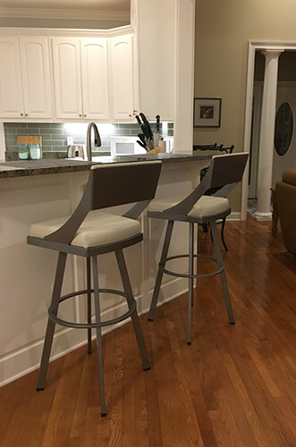 Customer Kitchen featuring Amisco's Fame Swivel Spectator Height 34
