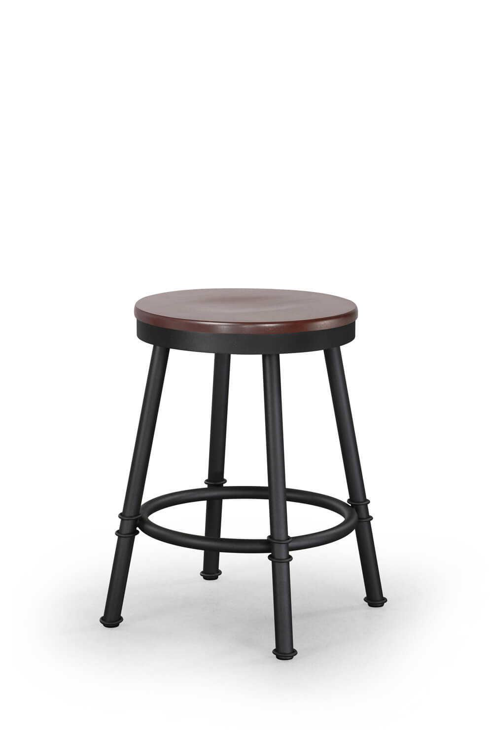 Sal Backless Swivel Stool with Wood Seat