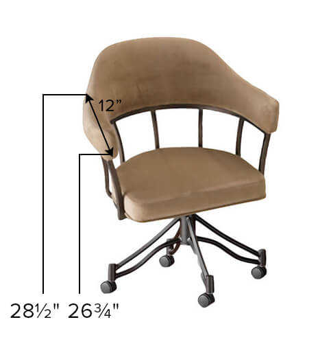 London Tilt Swivel Dining Chair with Arms