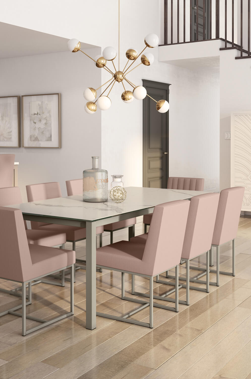 Buy Amisco S Darcy Upholstered Dining Chair W Vertical