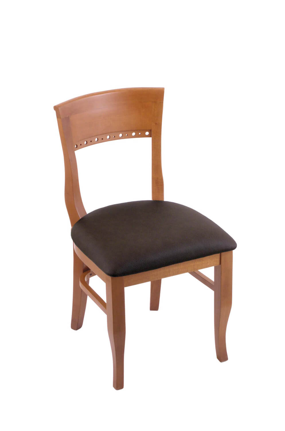 3160 Hampton Series Wood Dining Chair with Back and Seat Cushion