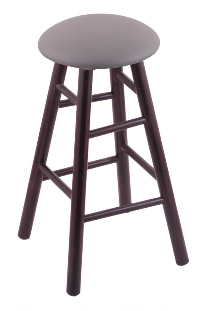 Round Cushion Domestic Hardwood Backless Swivel Stool with Smooth Legs