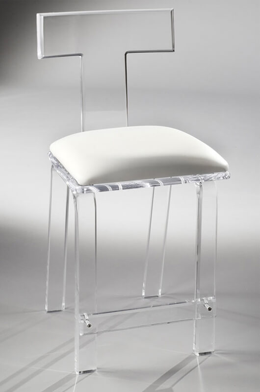 Sofia Clear Acrylic Stationary Bar Stool By Muniz Free