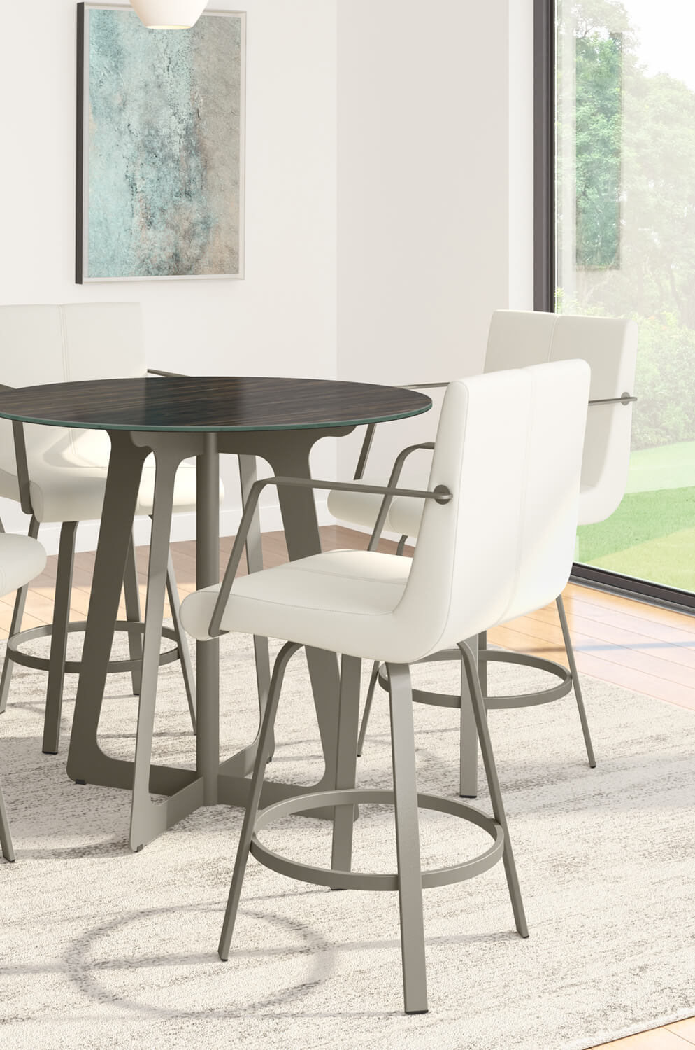 Buy Amisco S Edward Upholstered Swivel Stool With Arms