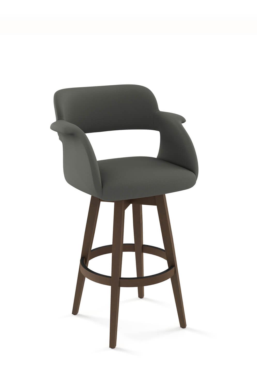 quality design 64007 4d7da Joshua Wooden Upholstered Swivel Stool