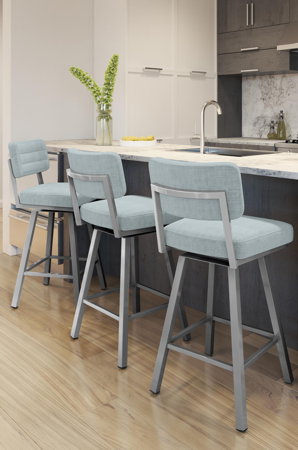 Buy Amisco S Phoebe Urban Upholstered Swivel Bar Stool