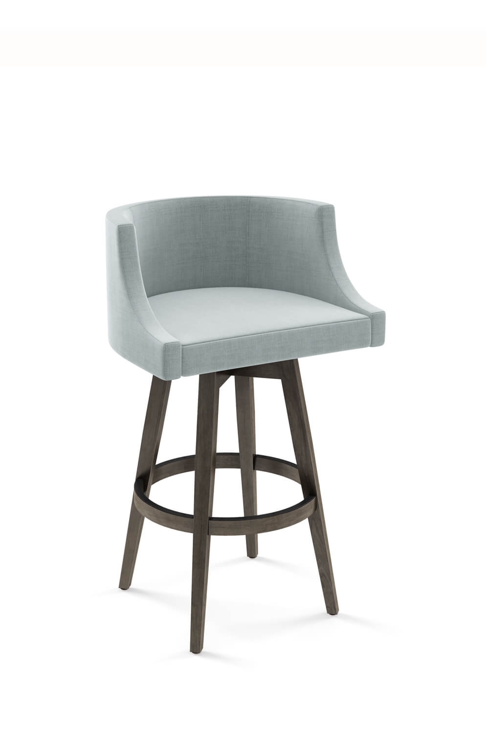 Buy Amisco S Wayne Upholstered Wood Swivel Stool Free