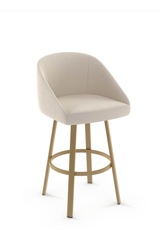Buy Amisco Wembley Upholstered Swivel Barstool W Low Back