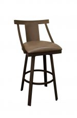 Callee's Anaheim Swivel Metal Barstool with Back and Seat Cushion - Shown in Brown