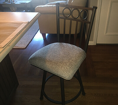 Callee's Washington Swivel Counter Stool with Back in Sun Bronze Metal Finish