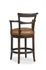 Fairfield's French 75 Wooden Swivel Barstool with Nailhead Trim