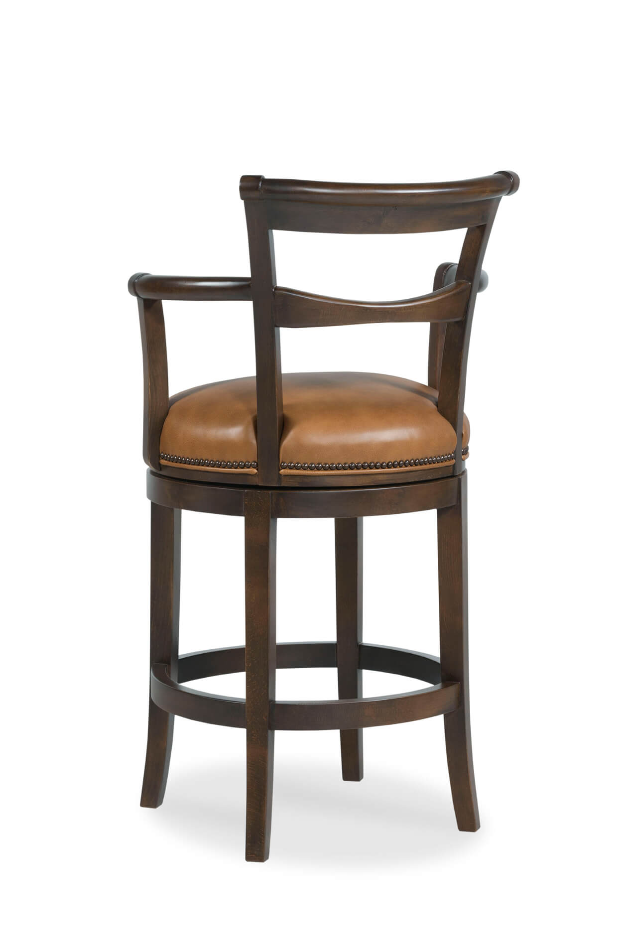 Buy Fairfield S French 75 Wooden Swivel Barstool W Arms