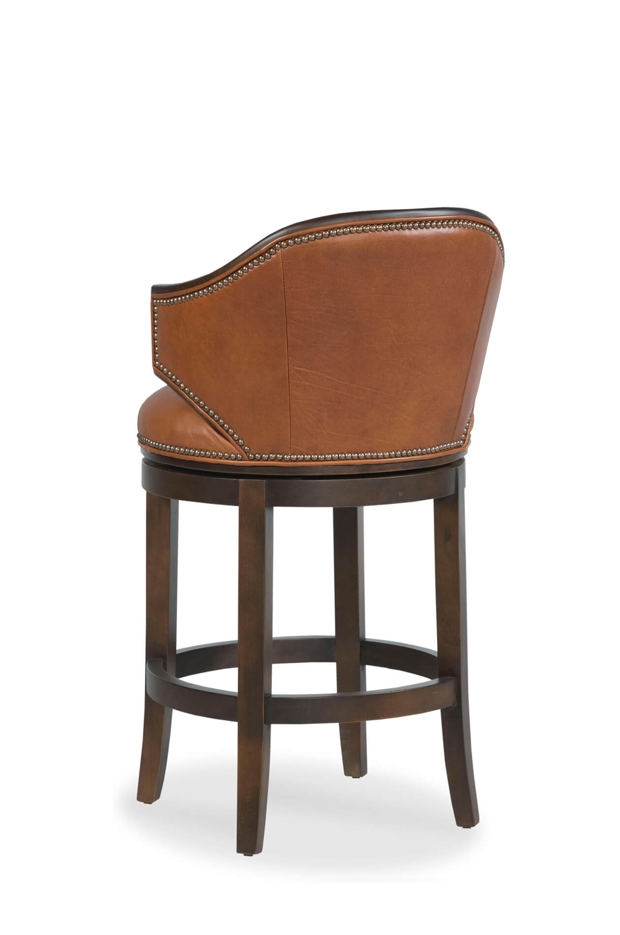 Buy Gimlet Formal Upholstered Wood Swivel Stool W Arms