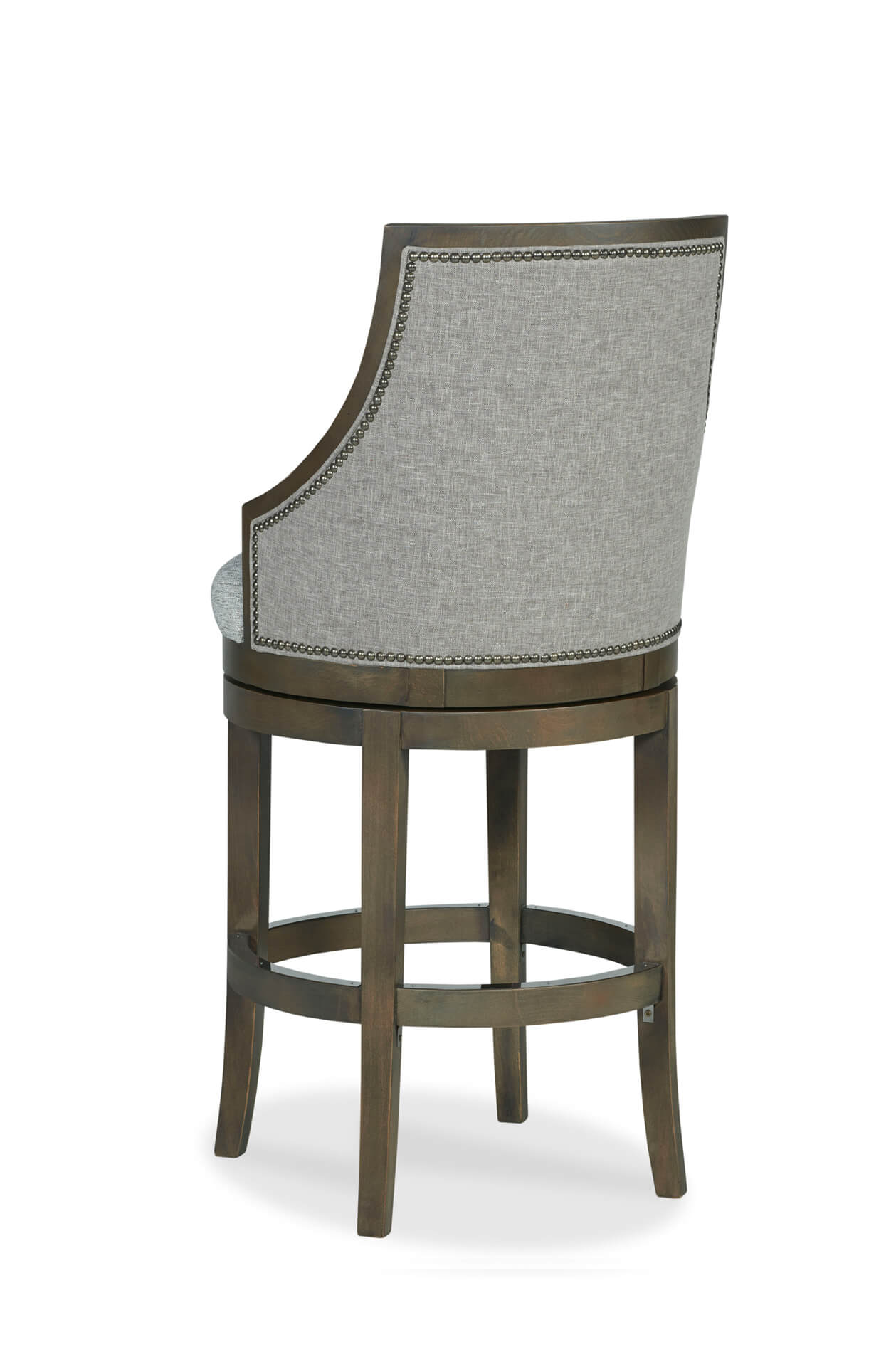 separation shoes 3ce31 55487 Robroy Upholstered Wooden Swivel Stool with Back