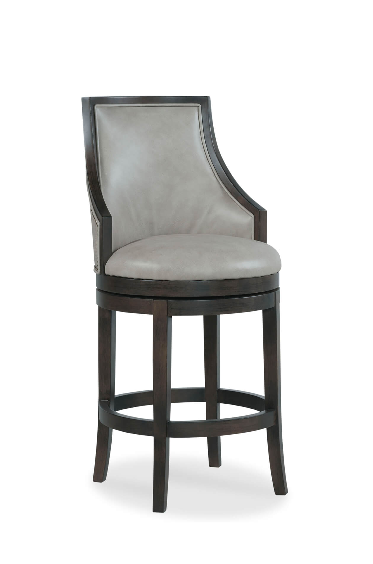 Buy Robroy Upholstered Formal Wood Swivel Barstool W