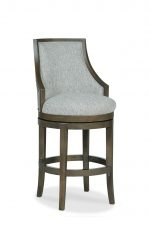 Fairfield's Robroy Upholstered Swivel Wooden Barstool with Partial Arms