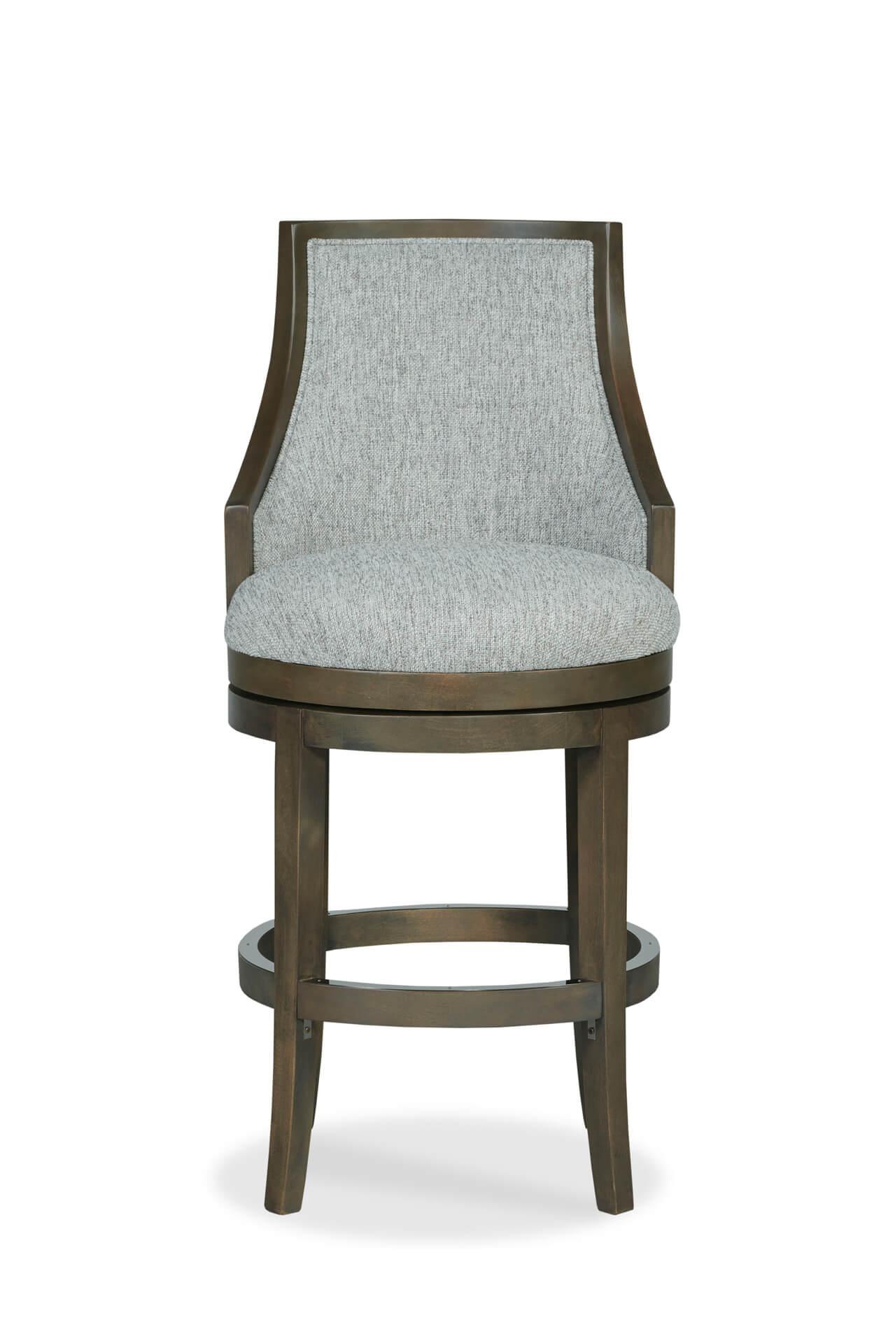 Awe Inspiring Robroy Upholstered Wooden Swivel Stool With Back Ibusinesslaw Wood Chair Design Ideas Ibusinesslaworg