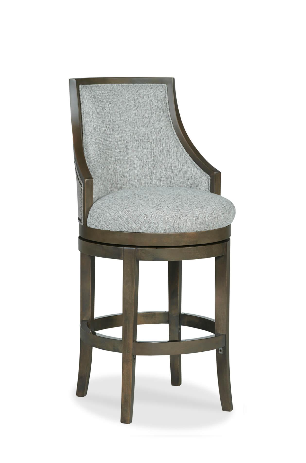 Buy Robroy Comfortable Upholstered Wood Swivel Stool