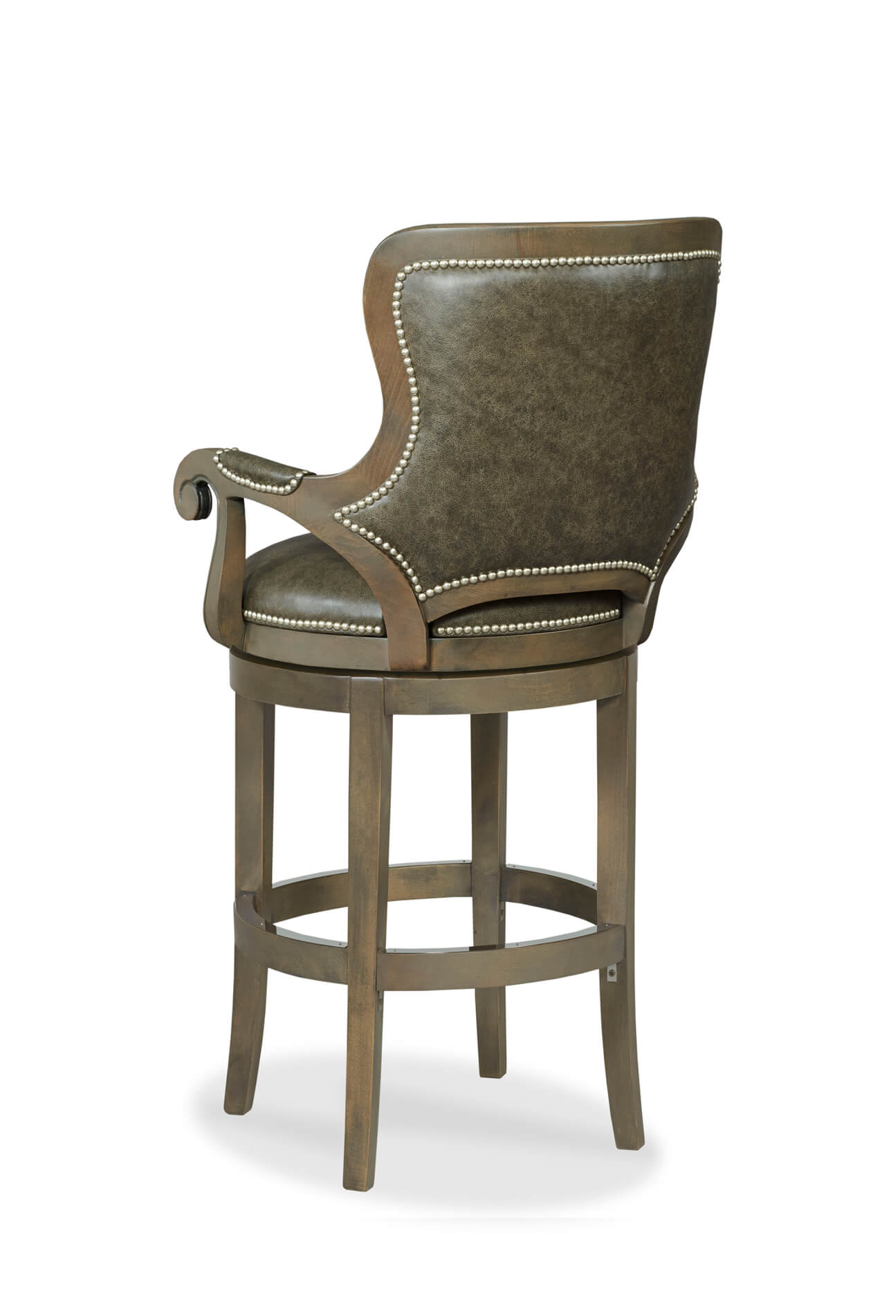 Astounding Spritzer Wooden Upholstered Swivel Stool With Arms Camellatalisay Diy Chair Ideas Camellatalisaycom