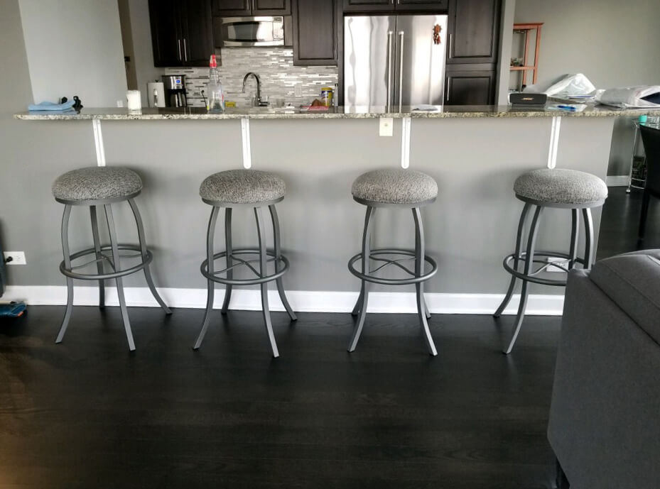 Callee's Americana Backless Swivel Extra Barstools in Modern Kitchen