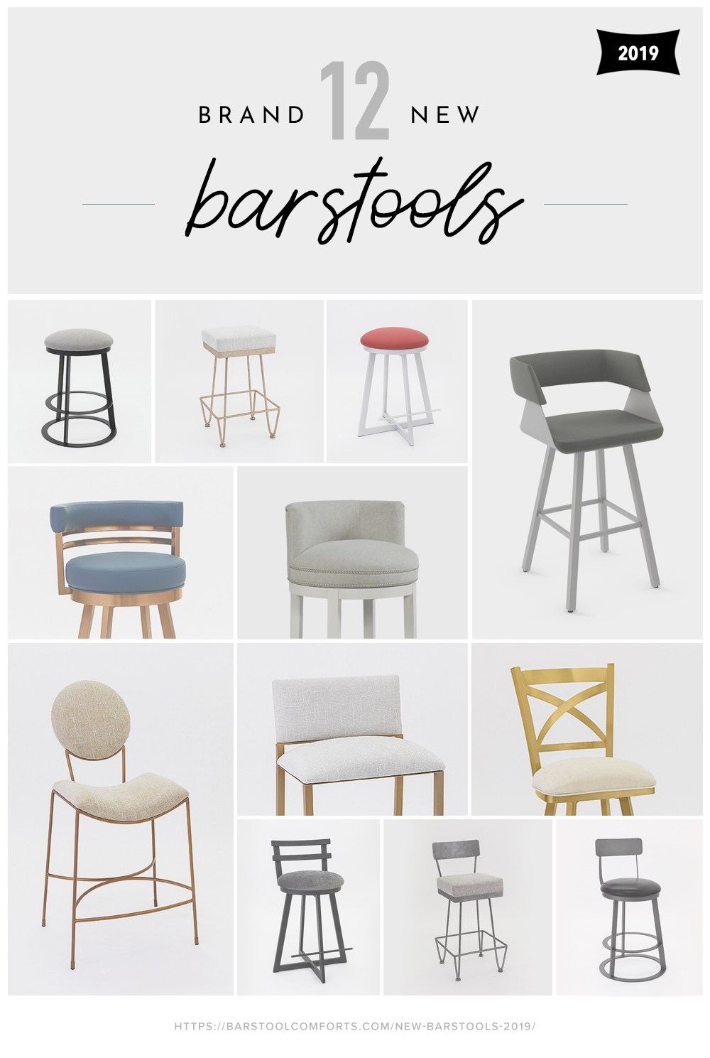 12 Brand New Bar Stools for 2019