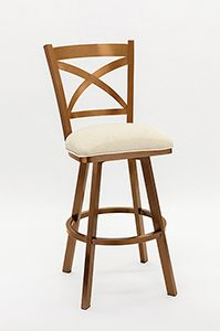 Barstool with Copper Stainless Steel Metal Finish
