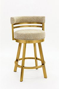 Low Back Golden Swivel Bar Stool Stainless Steel