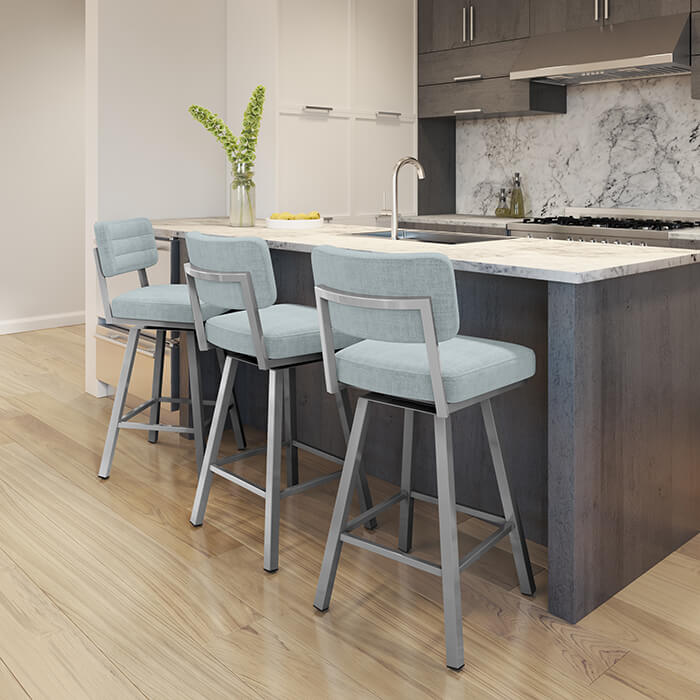 New Metal Barstools in Kitchen 2019