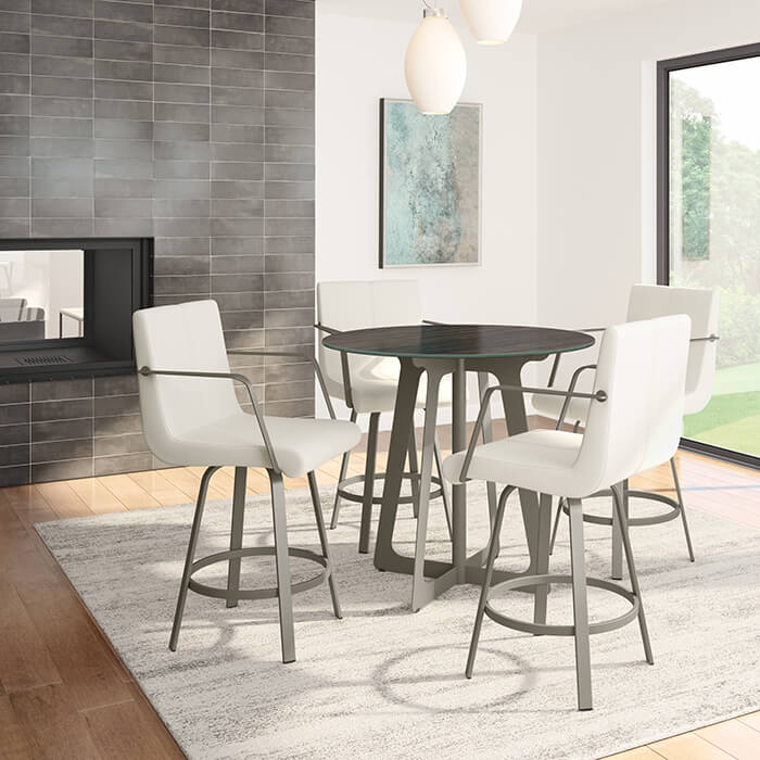 New Metal Barstools with Arms in Dining Space for 2019