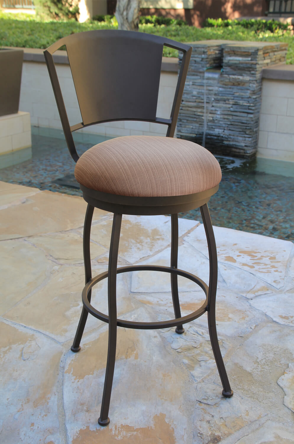 Buy Callee Outdoor Bristol Swivel Stool With Back Free