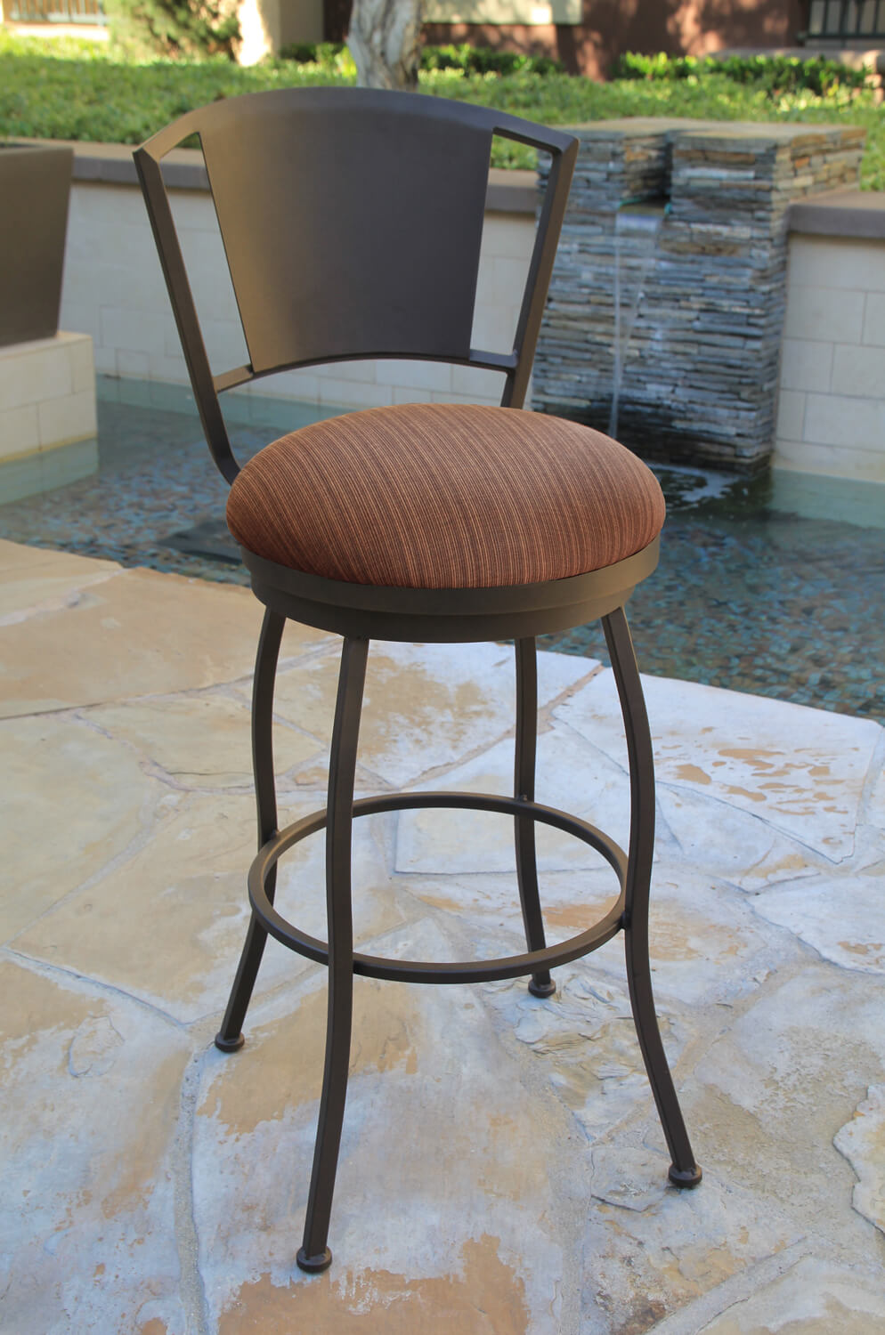 new styles ed17e 42011 Bristol Outdoor Swivel Stool with Back