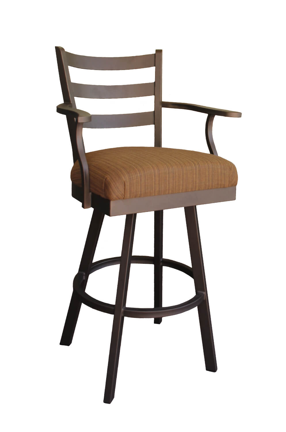 Callee's Claremont Outdoor Swivel Stool with Back and Arms