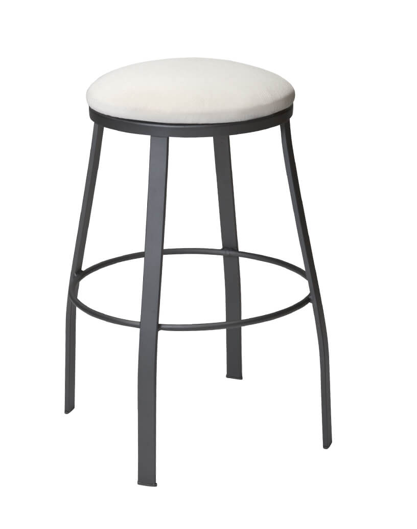 Outdoor Backless Iron Swivel Bar Stool