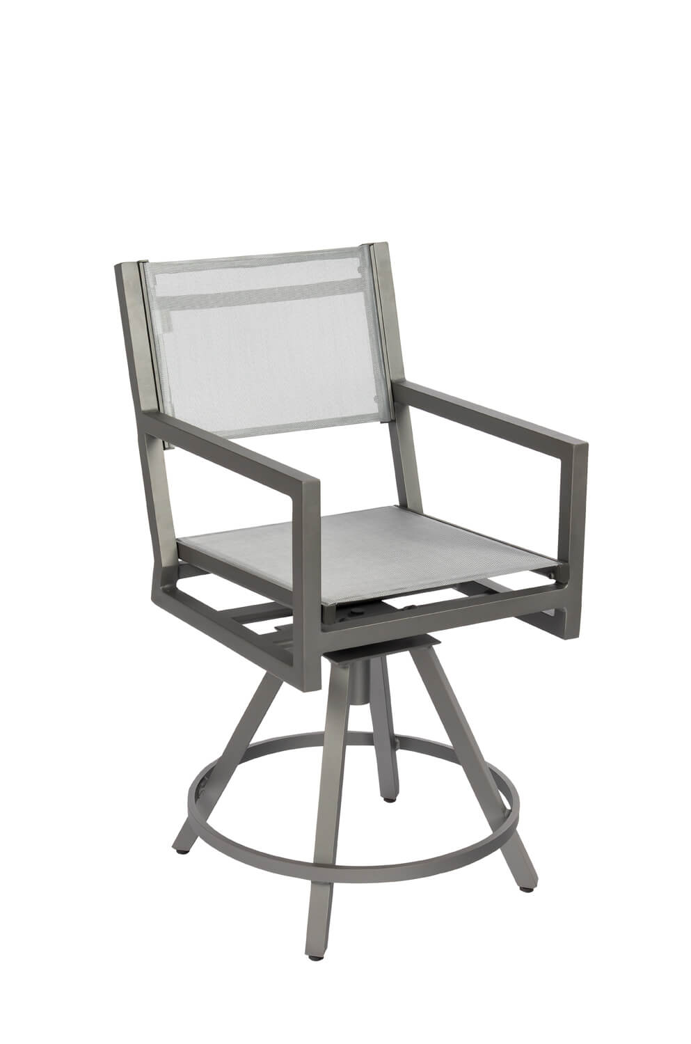 Outstanding Palm Coast Outdoor Sling Swivel Stool With Arms Andrewgaddart Wooden Chair Designs For Living Room Andrewgaddartcom