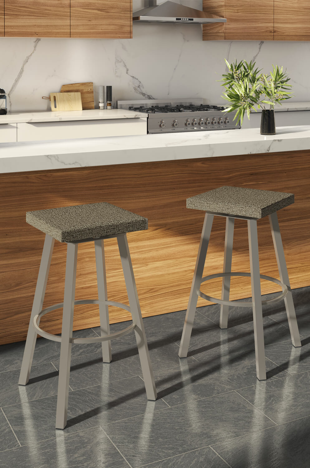 Anders Backless Swivel Stool
