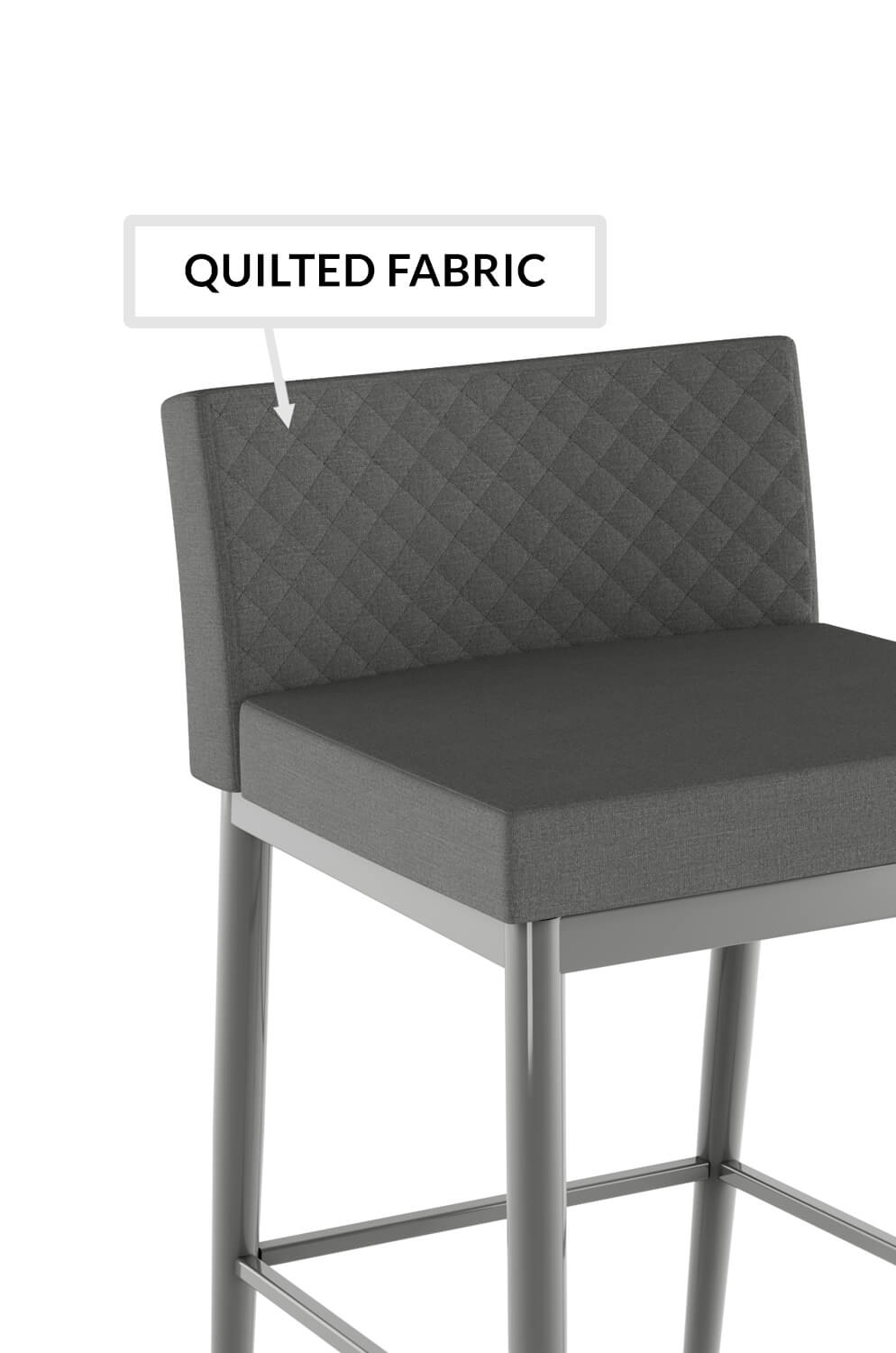 Prime Hanson Modern Stool With Quilted Low Back Xl Caraccident5 Cool Chair Designs And Ideas Caraccident5Info