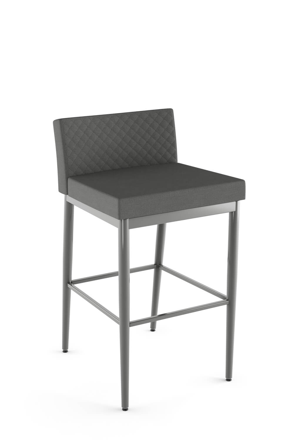 Admirable Hanson Modern Stool With Quilted Low Back Xl Caraccident5 Cool Chair Designs And Ideas Caraccident5Info
