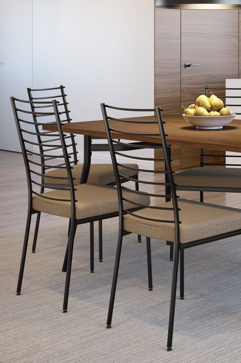 Take A Bite Out Of 24 Modern Dining Rooms: Buy Amisco's Lisia Comfortable Industrial Dining Chair