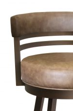 Callee's Ambridge Modern Brown Bar Stool with Low Back