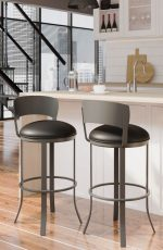 Callee's Bailey Black Modern Swivel Bar Stool in Modern Kitchen Loft