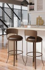 Callee's Bailey Brown Low Back Swivel Barstools in Modern Kitchen Loft