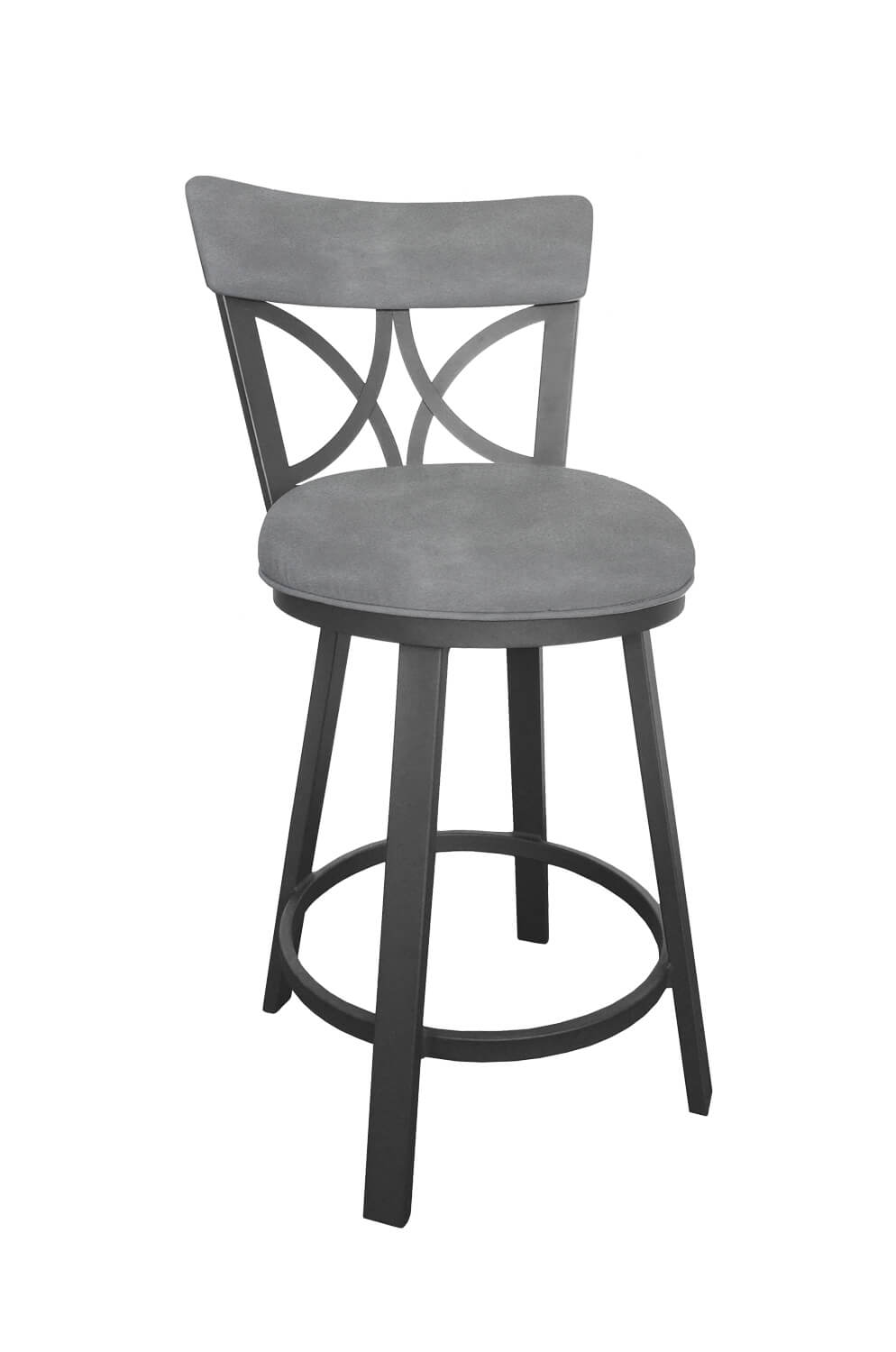 Awe Inspiring Bradley Gray Swivel Stool With Back Quick Ship Andrewgaddart Wooden Chair Designs For Living Room Andrewgaddartcom