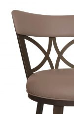 Callee's Bradley Traditional Brown Seat Cushion and Metal Finish