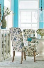 Fairfield's Dora Transitional Dining Chairs in Colorful Dining Room with Shades of Blues and Greens