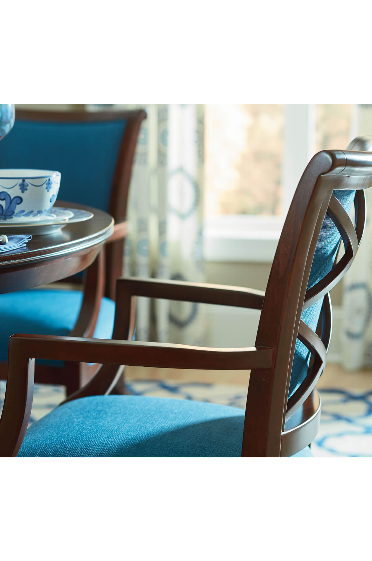 Buy Fairfield S Mackay Upholstered Dining Arm Chair Free Shipping