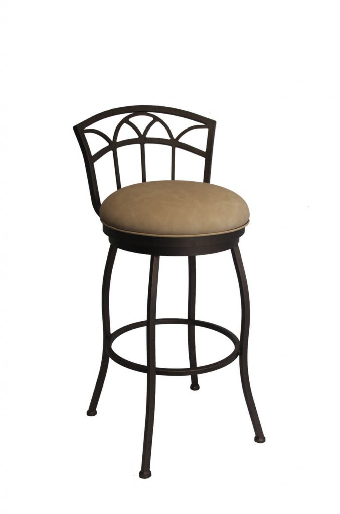 Callee's Fairview Traditional Bronze Swivel Bar Stool with Low Back