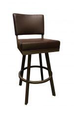 Callee's Malibu Modern Brown Swivel Upholstered Bar Stool