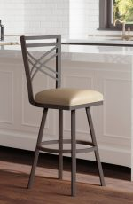 Callee's Rebecca Transitional Swivel Metal Counter Stool in Transitional Kitchen Island