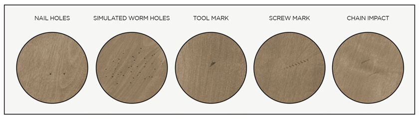 Amisco's Manual Characteristics of the Distressed Solid Wood
